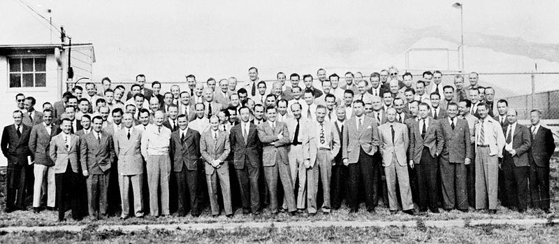 Njemački rakteni znanstvenici na tlu SAD-a nakon spašavanja u operaciji Paperclip.