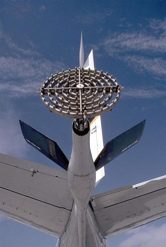 Tipični raspršivač srebrenog jodida, montiran na zrakoplov.