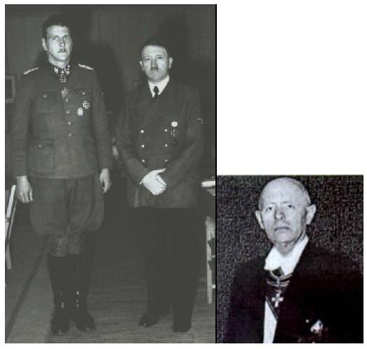 Na slici vidite Otta Skorzenyja ubojicu iz redova: SS/Grupe Odessa, no služio je i kao CIA-in glavni špijun i ubojica. Otto Skorzeny s Adolfom Hitlerom. Desno je Reinhard Gehlen.