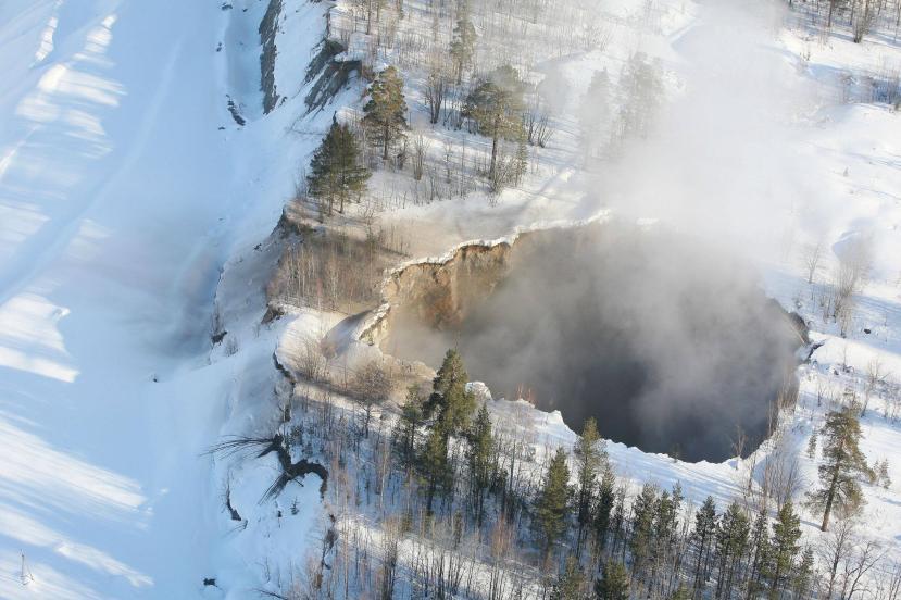 Vrtača nastala kod Malmbergeta u Švedskoj je nastala u nekoliko sati zbog urušavanja prastarih rudarskih tunela.