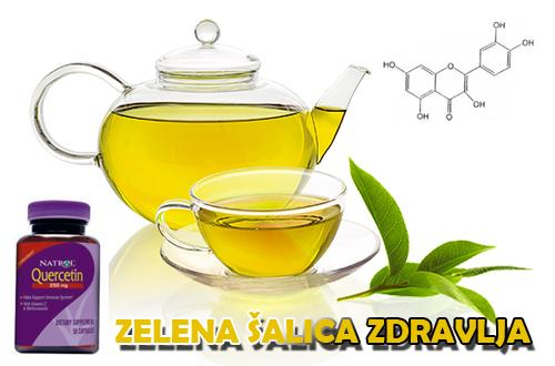 Šalica zelenog čaja u kombinaciji s kvercetinom pojačava ljekovite učinke polifenola.