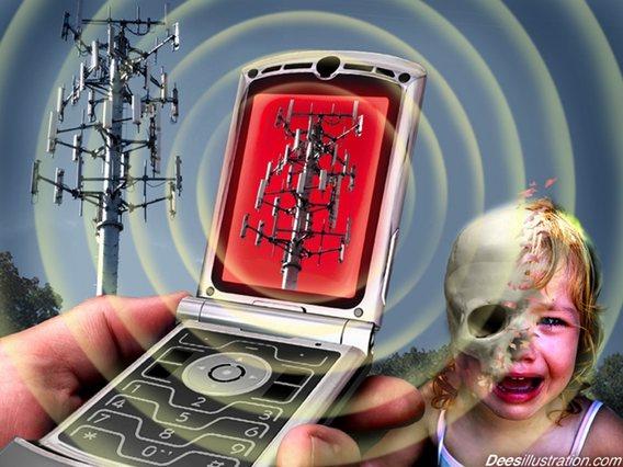 Zračenje iz telefona i elektroničkih naprava uvelike upropaštava zdravlje djece. Slika vlasništvo Deesillustration.