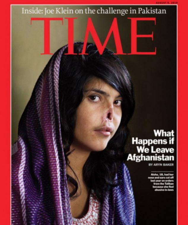 Naslovnica Time magazinea s Aeshom Mohammadzai.