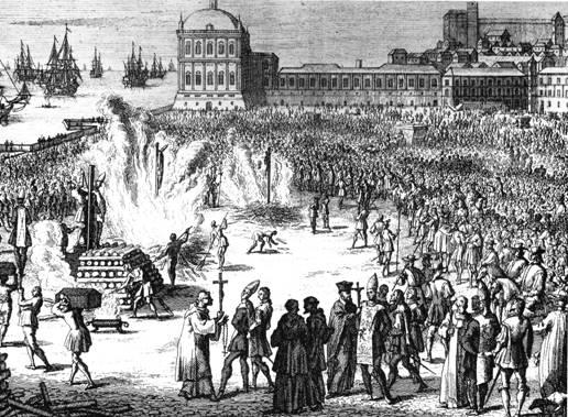 """Jedno od """"remek dijela"""" Inkvizicije, masovno spaljivanje ljudi koji su prkosili dogmama katoličke crkve."""