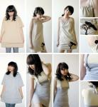 Prevelika majca kratkih rukava može se prekrojiti u malu ugodnu haljinicu. Uz iglu i konac, dobro će doći i ovakva ideja.