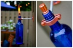 Od obične staklene flaše možete napraviti atraktivnu zidnu petrolejku s dodavanjem plamenika i učvršćivanjem na zid.