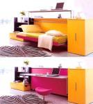 Za manjak prostora u sobi idealno je rješenje sklopivi krevet koji se pretvara u pisaći stol