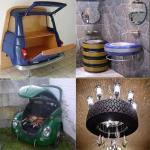Kako na razne načine iskoristiti stare djelove automobila