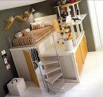 Krevet, pisaći stol i ormar - sve u jednom i stane u samo jedan ugao sobe