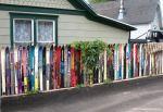 Ograda se može napraviti i od starih skija