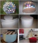 Tabure se može napraviti uz pomoć plastičnih flaša i tkanine