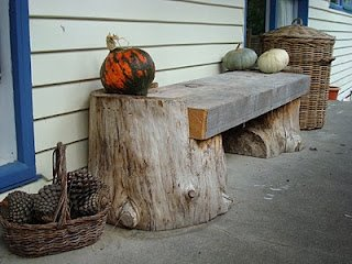 1 klupice od poluobra enog drveta matrix world - Stump decorating ideas inspiration from nature ...