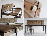 Multifunkcionalni radni stol od konstrukcije i par dasaka