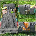 Ručnik za sunčanje s jastukom i torba u jednom
