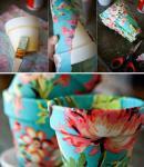 Tegle za cvijeće možete ukrasiti papirnatim salvetama