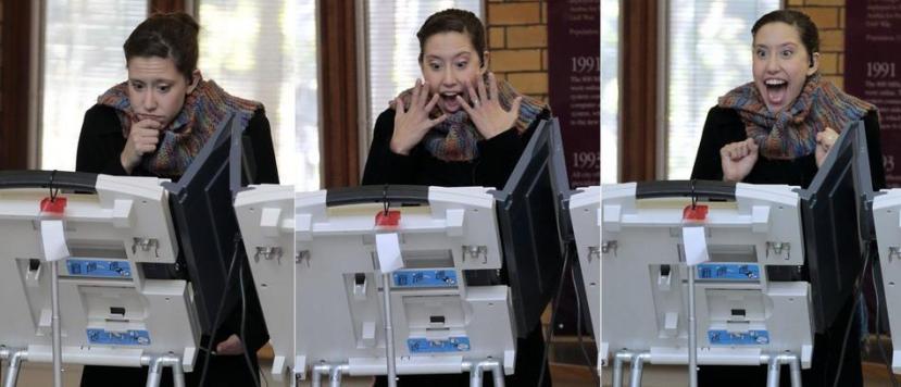 Jako teško elektroničko glasovanje na kojemu se nalazi samo dva dugmeta, s oznakama demokratske i republikanske stranke. Je li ovo pokazatelj (ne)upućenosti američkih glasača u sve ono za što glasaju?