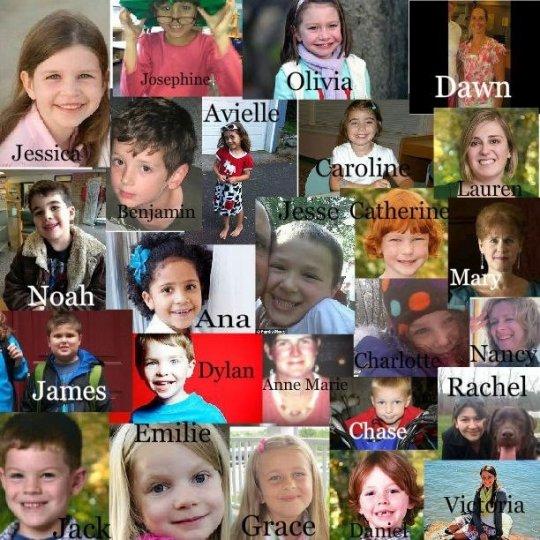 Žrtve iz škole Sandy Hook.