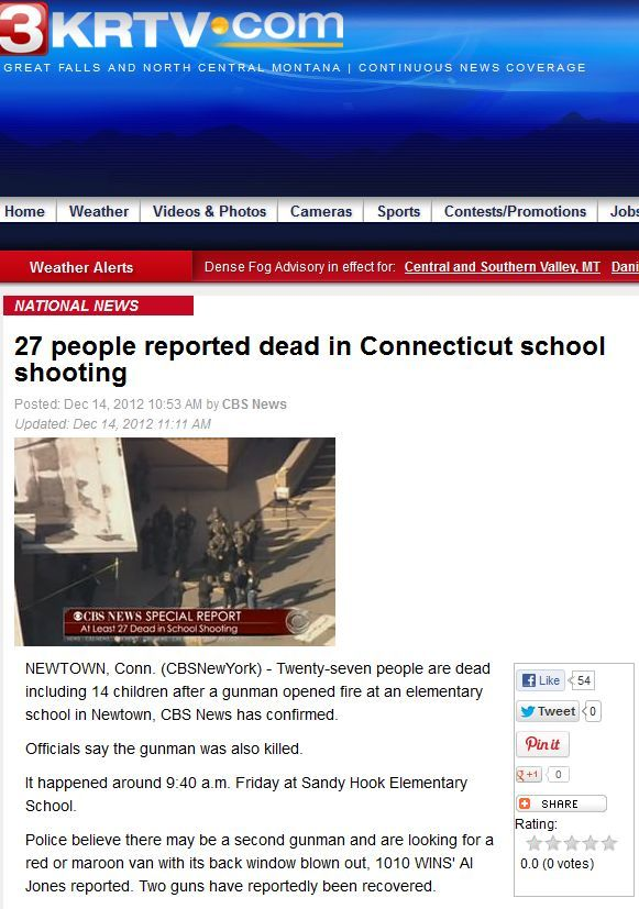 KRTV izvještava o dvoje ubojica no ubrzo povlači takvu vijest?