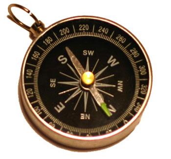 Kompas i magnetna igla, tipičan primjer feromagnetizma.