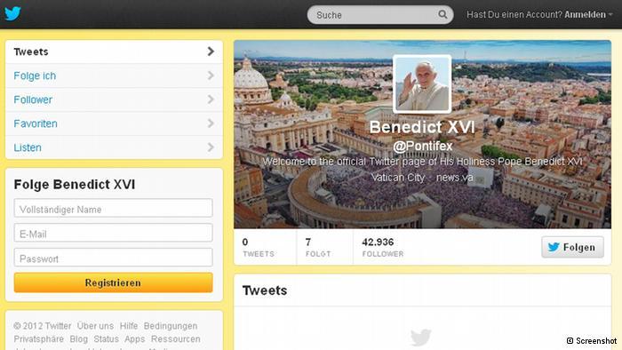 Papa na Twiteru.