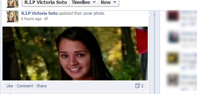 """Ukinuta Facbook stranica """"R.I.P. Victoria Soto"""" je napravljena četiri dana prije Victorijnine smrti."""