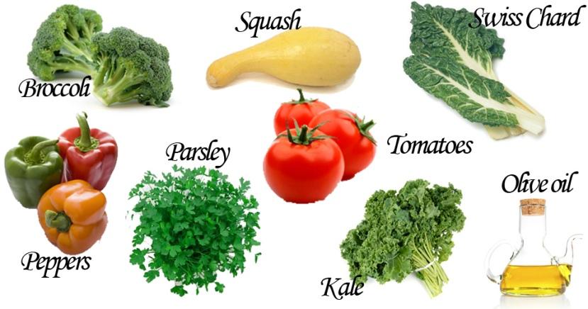 Neki od biljnih izvora vitamina skupine K.