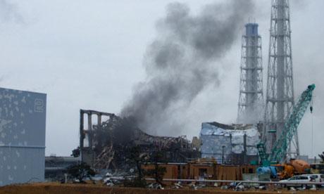 Jedan od uništenih reaktora u Fukushimi, neposredno nakon nesreće.