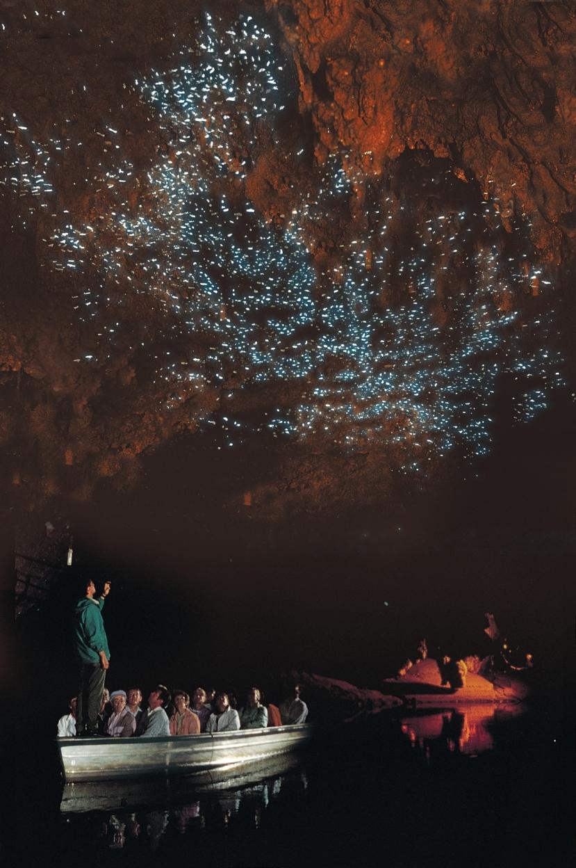 Turisti u obilasku svjetlećih špilja.
