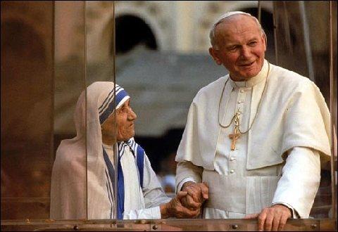 Majka Terezija i Iban Pavao II.