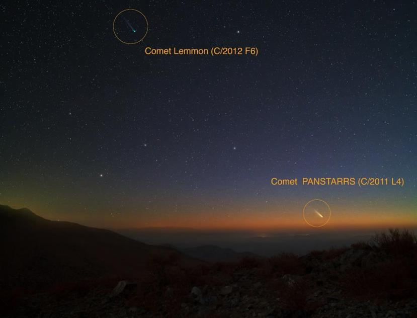 1dvije komete na nebu