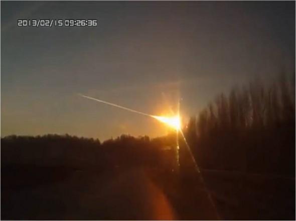 Fotografija sagorijevanja meteora nad Chelyabinskom.