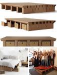 Izdržljivi krevet od kartona