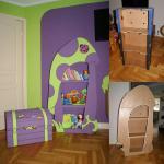 Polica za dječju sobu od kartona