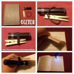 Mala baterijska svjetiljka za noćno čitanje