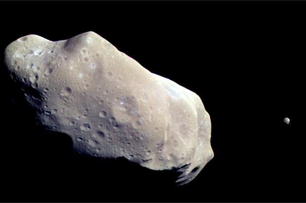 Zemlja će s asteroida 1998 QE2 izgledati otprilike ovako.