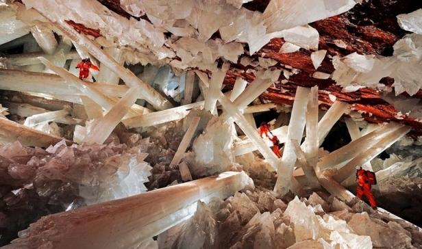 Naica špilja s najvećim kristalima na svijetu.