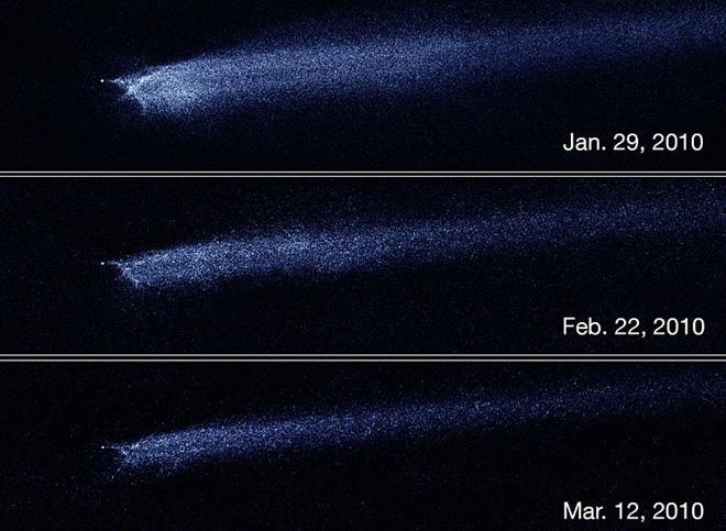 Raspad  P2010 A2, kako ga je snimio Hubble.