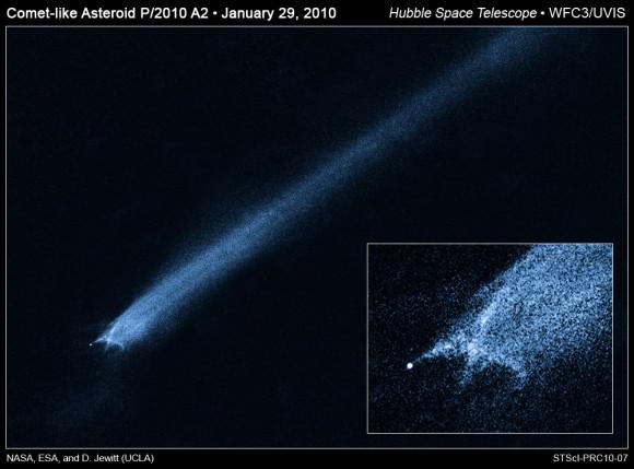 P2010 A2 u trenutku raspada, do sada se smatralo kako je u pitanju kometa, a ne asteroid koji je pretrpio koliziju s drugim svemirskim lutalicom.