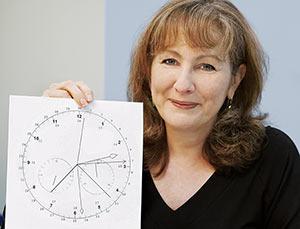 Kartice sa satovima kojima je Barbara poboljšavala svoje kognitivne sposobnosti