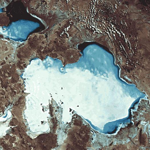 Salar de Uyuni snimka iz svemira.