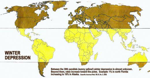 Zimska depresija je iznimno raširen poremećaj na sjevernoj hemisferi.