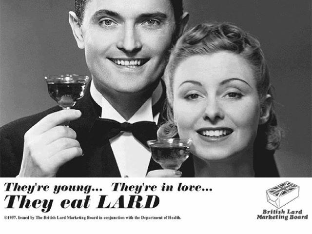 Reklama za svinjsku mast iz 1957. godine koju potpisuje i javno zdravstvo Velike Britanije.