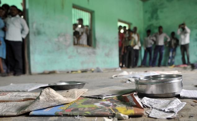 Učionica u Bahri gdje su djeca jela kontaminirani besplatni obrok.