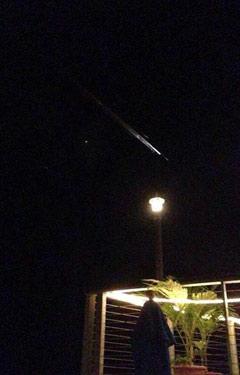 Trag meteora nad Grand Caymanom.