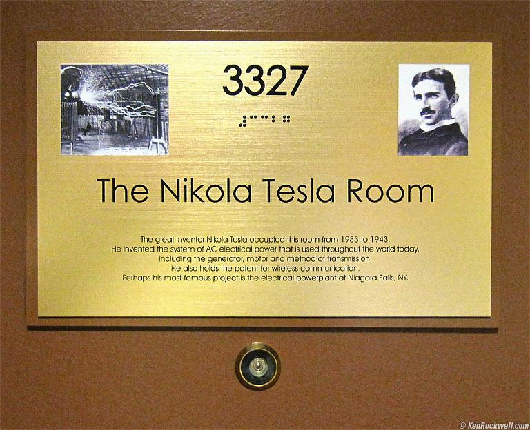 Soba u hotelu New Yorker u kojoj je umro Nikola Tesla.