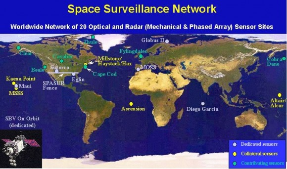 Space Fence radarske i satelitske postaje.