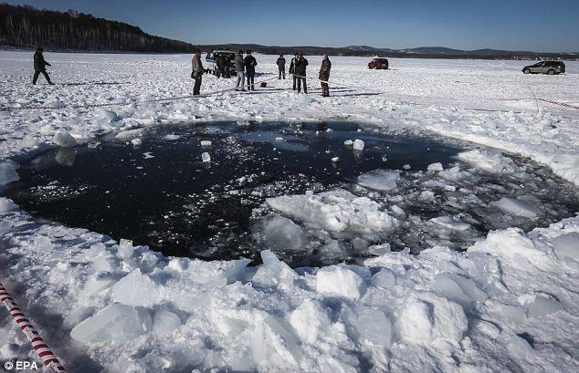 Mjesto udara, jezero Chebarkul.
