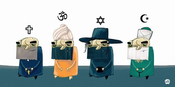 Koliko i kako religije djeluju na naš intelekt, smo mogli vidjeti u zadnjih nekoliko milenija s brojnim vjerskim ratovima i progonima.
