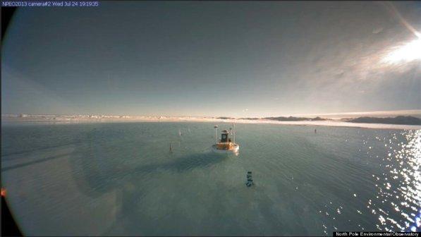 NOAA-ina slika koju je objavila AP je stvorila uvjerenje da se sjeverni pol odledio.