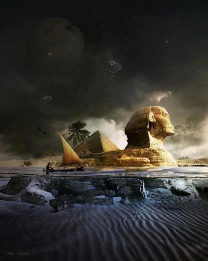 Civilizacije su se uzdizale i propadale, svijet se neprestano mijenja, zajedno sa svemirskim okružjem, prije 7.000 godina plato Gize je bio močvarno tlo s velikim jezerima, pa ipak znanstvenici još uvijek odbijaju povjerovati u znakove vodene erozije na Sfingi.